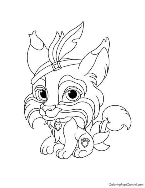 Palace Pets Pounce Coloring Page
