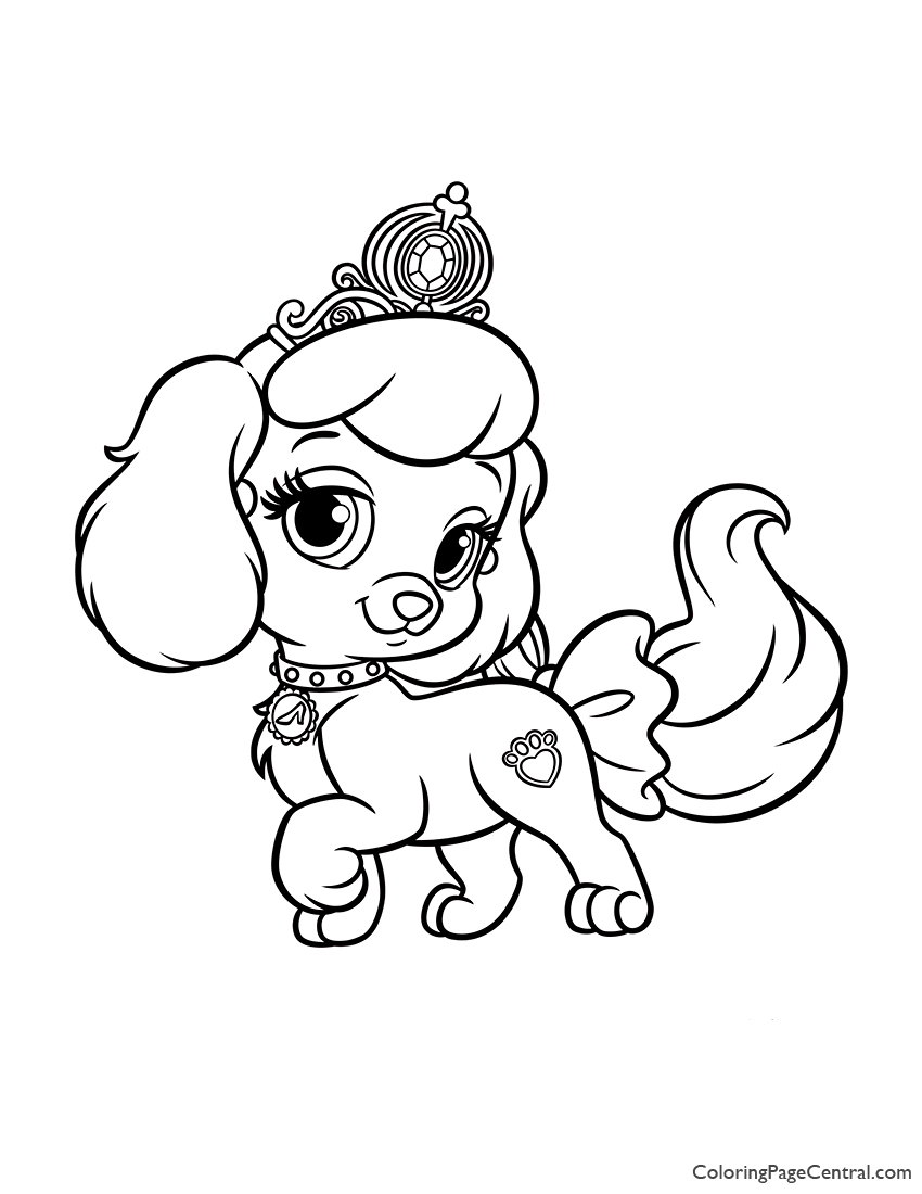 Palace Pets Pumpkin Coloring Page