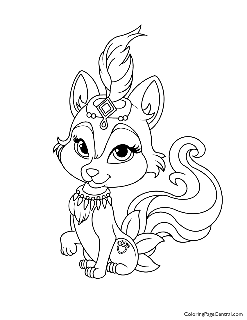 Palace Pets River Coloring Page
