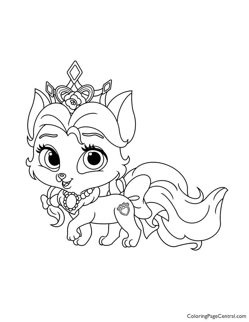 Palace Pets Rouge Coloring Page