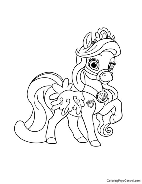 Palace Pets Seashell Coloring Page