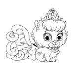 Palace Pets Slipper Coloring Page