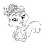 Palace Pets Snowpaws Coloring Page
