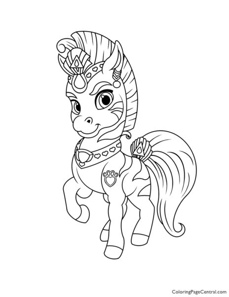 Palace Pets Stripes Coloring Page