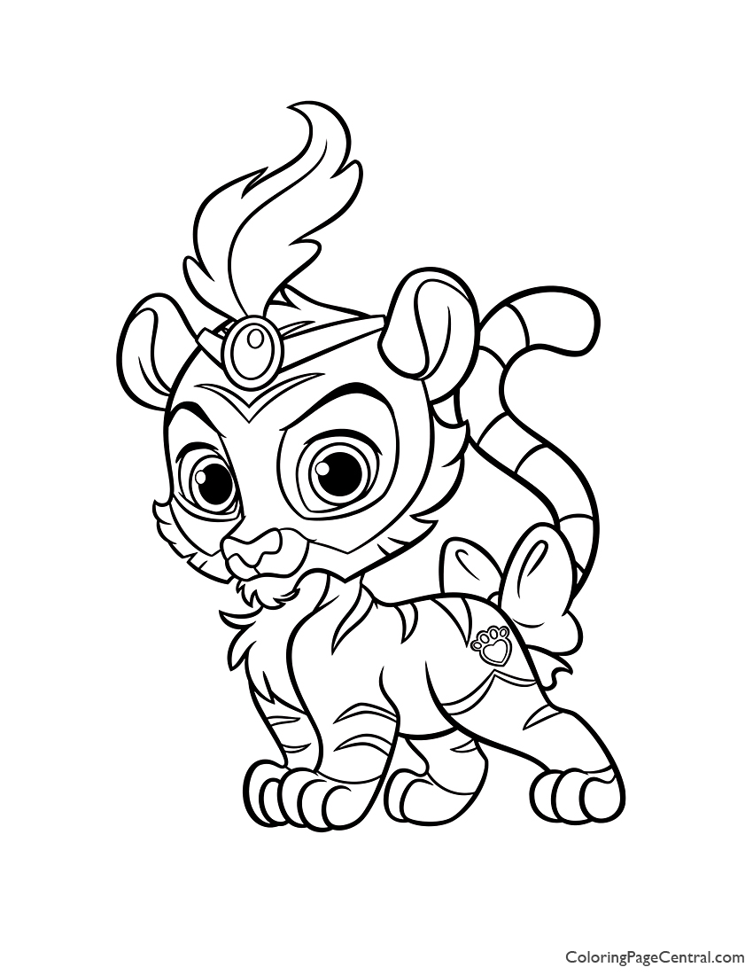 Palace Pets Sultan Coloring Page