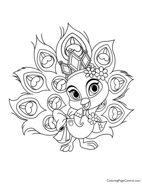 Palace Pets Sundrop Coloring Page