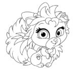 Palace Pets Thistleblossom Coloring Page