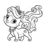 Palace Pets Treasure Coloring Page