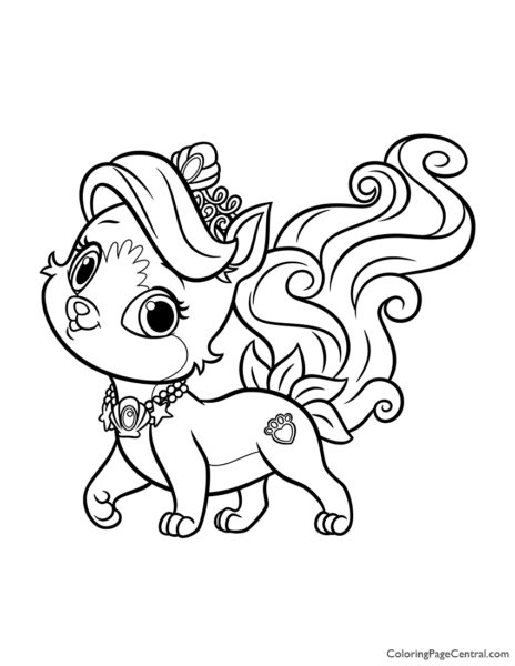 Palace Pets Treasure Coloring Page