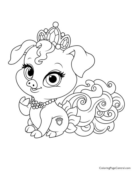 Palace Pets Truffles Coloring Page