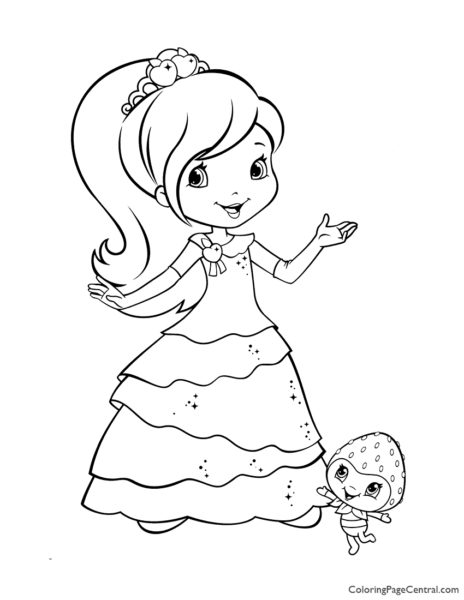 Plum Pudding and Berrykin Coloring Page