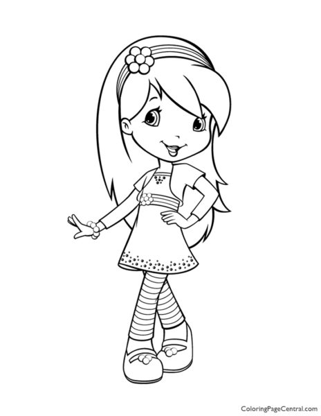 Raspberry Torte 01 Coloring Page