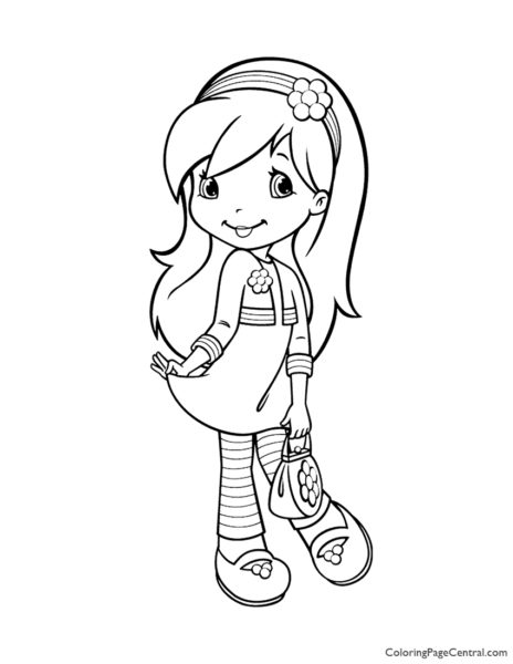 Raspberry Torte 03 Coloring Page