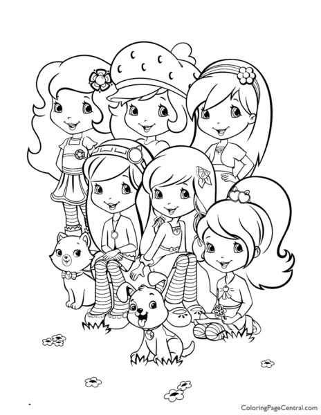 Strawberry Shortcake 01 Coloring Page