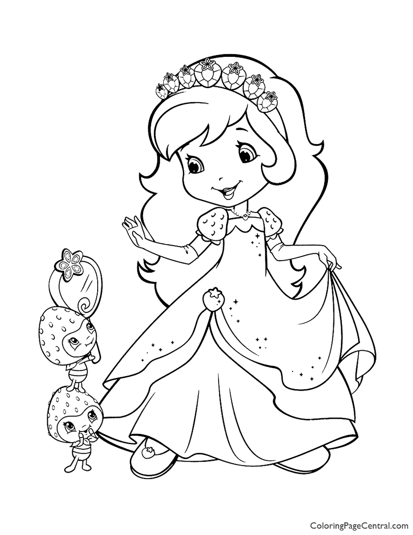 Strawberry Shortcake and Berrykins Coloring Page