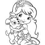 Strawberry Shortcake and Pupcake Coloring Page