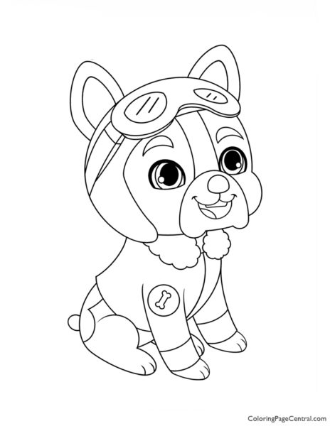 Whisker Haven Pilot Coloring Page