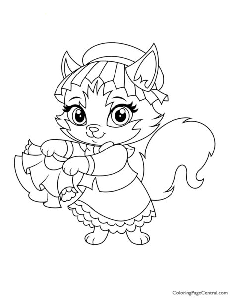 Whisker Haven Tillie Coloring Page
