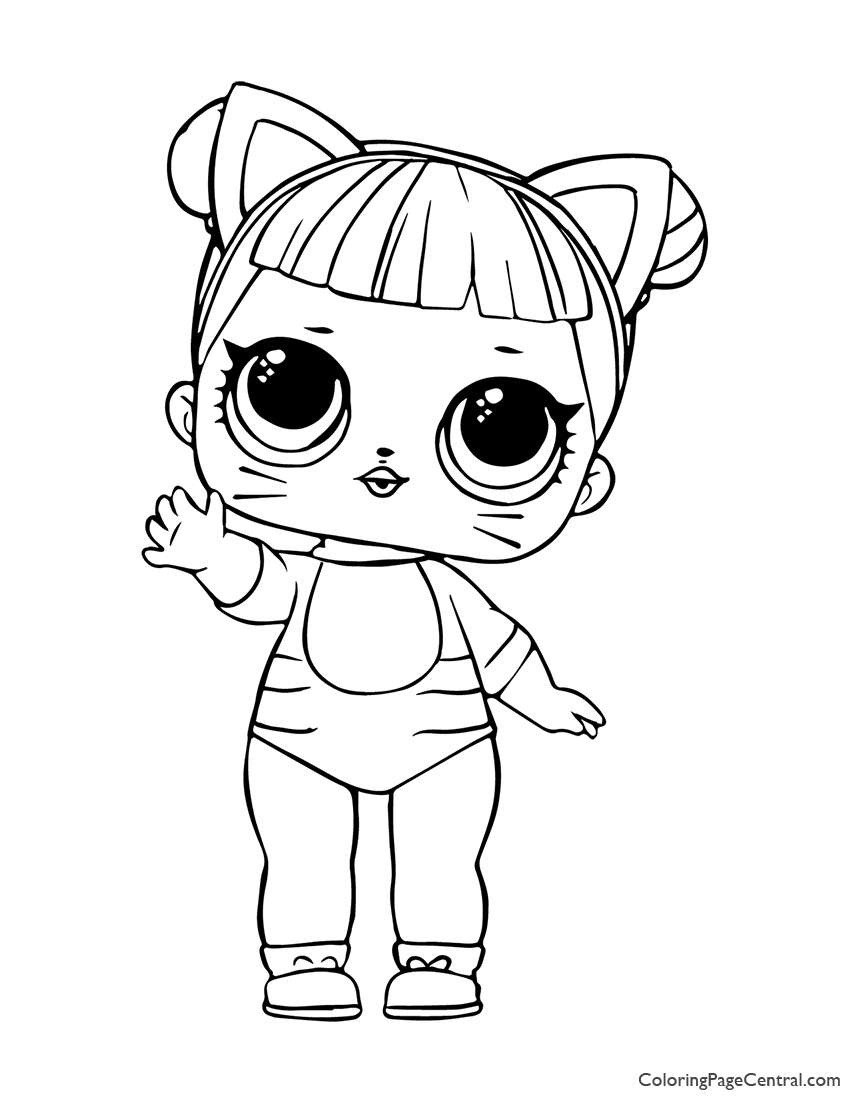 Lol Surprise Baby Cat Coloring Page Coloring Page Central