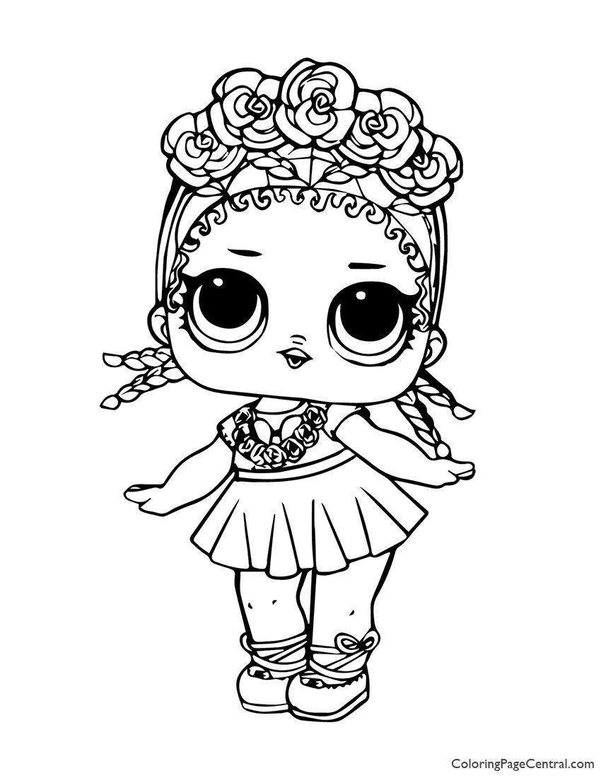 LOL Surprise Coconut QT Coloring Page | Coloring Page Central