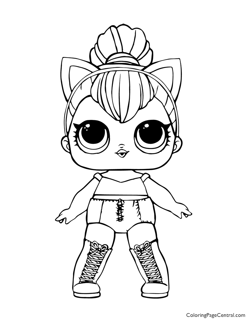 LOL Surprise Kitty Queen Coloring Page