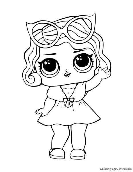 LOL Surprise Leading Baby Coloring Page