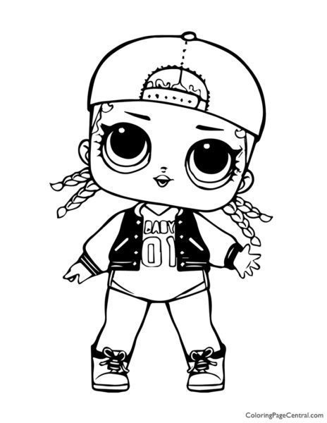 LOL Surprise MC Swag Coloring Page