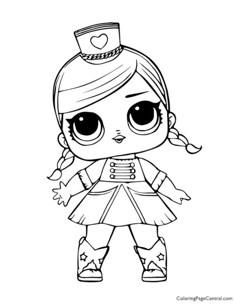 LOL Surprise Majorette Coloring Page