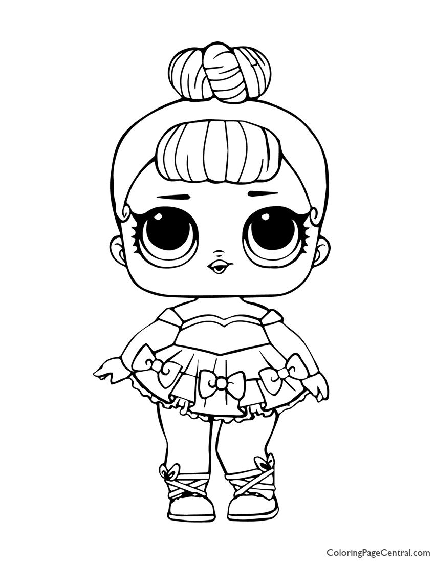 LOL Surprise Miss Baby Glitter Coloring Page