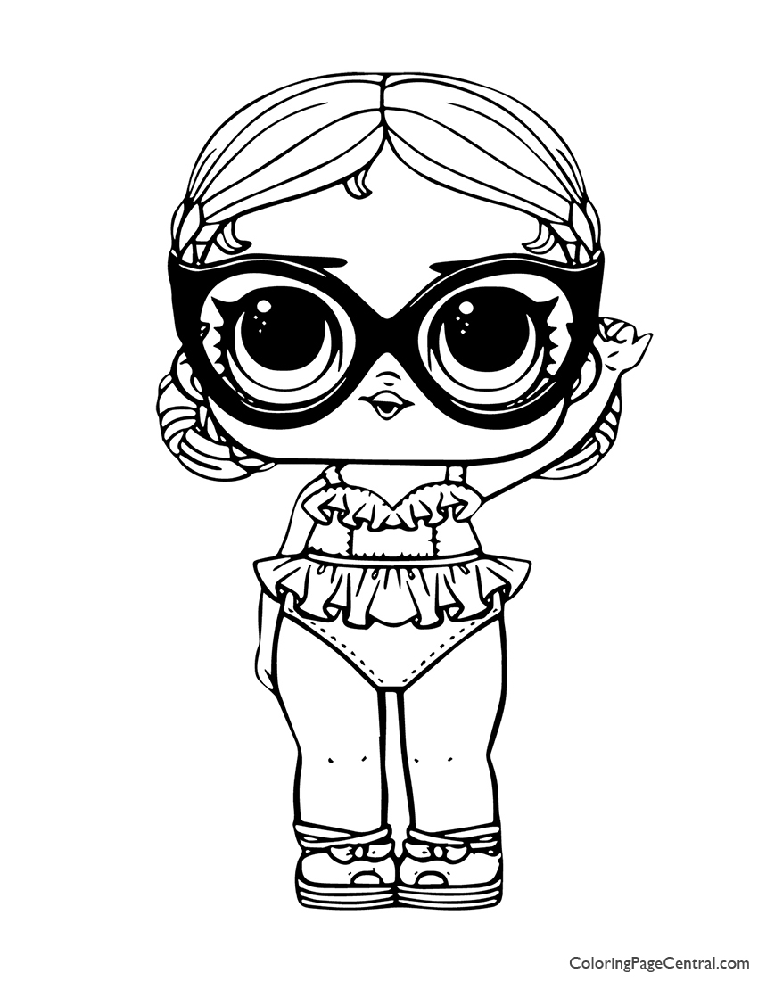 LOL Surprise Vacay Babay Coloring Page | Coloring Page Central