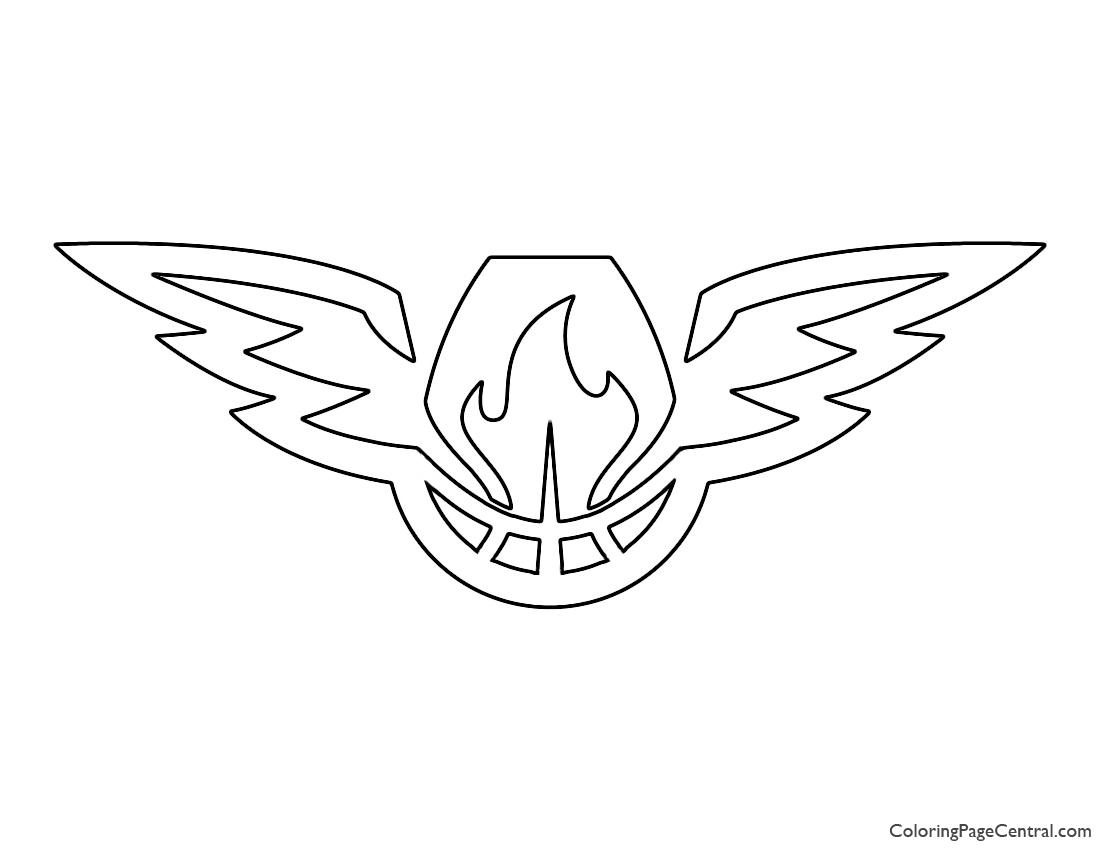 NBA Atlanta Hawks Logo 02 Coloring Page