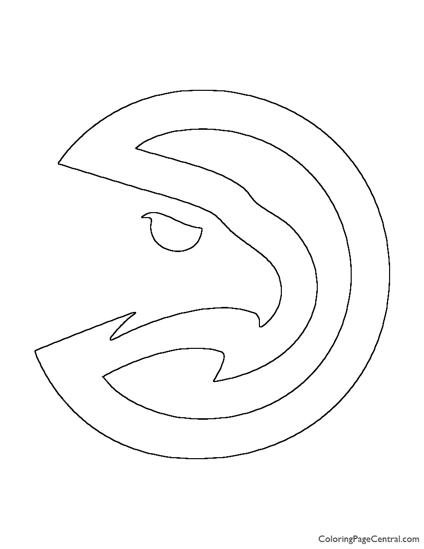Nba Atlanta Hawks Logo Coloring Page Coloring Page Central