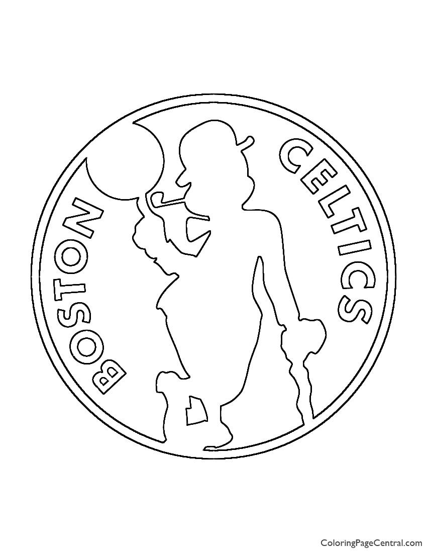 NBA Boston Celtics Logo 02 Coloring Page