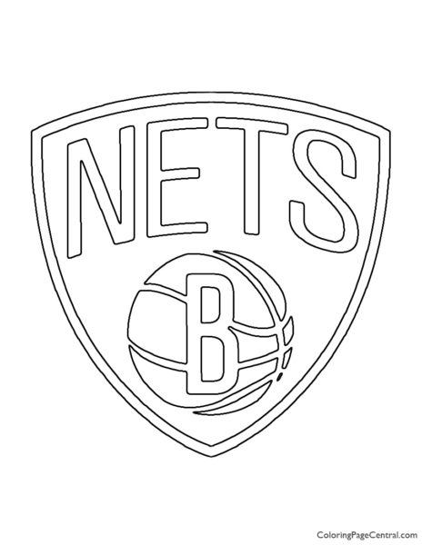 NBA Brooklyn Nets Logo Coloring Page