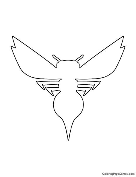 NBA Charlotte Hornets Logo Coloring Page