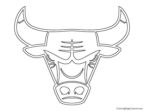 NBA Chicago Bulls Logo Coloring Page