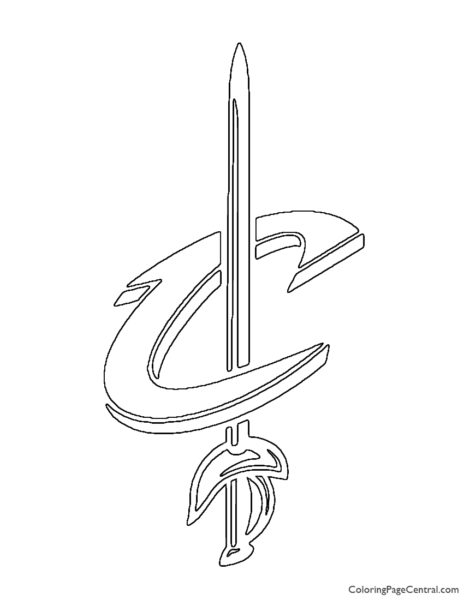 NBA Cleveland Cavaliers Logo 02 Coloring Page