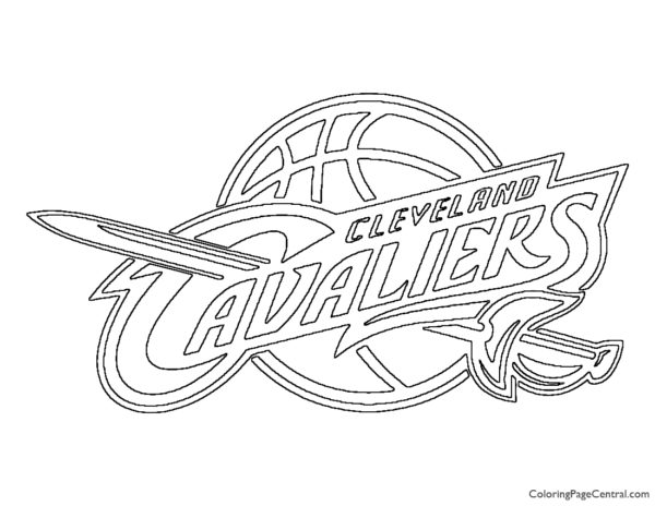 NBA Cleveland Cavaliers Logo Coloring Page