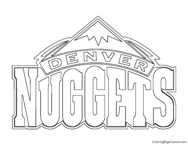 NBA Denver Nuggets Logo Coloring Page