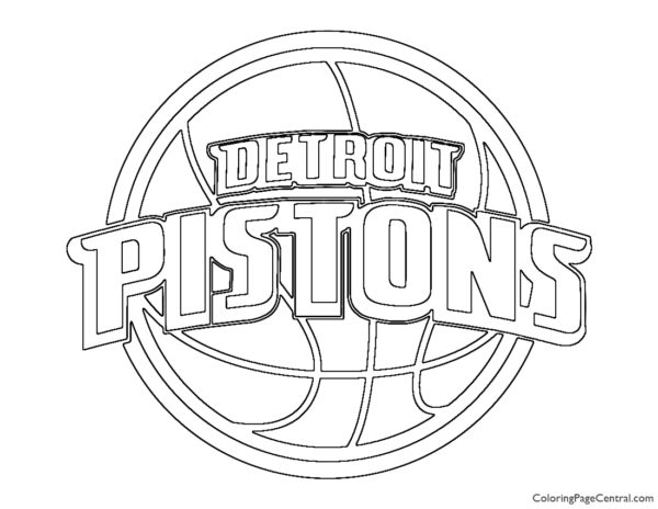 NBA Detroit Pistons Logo Coloring Page