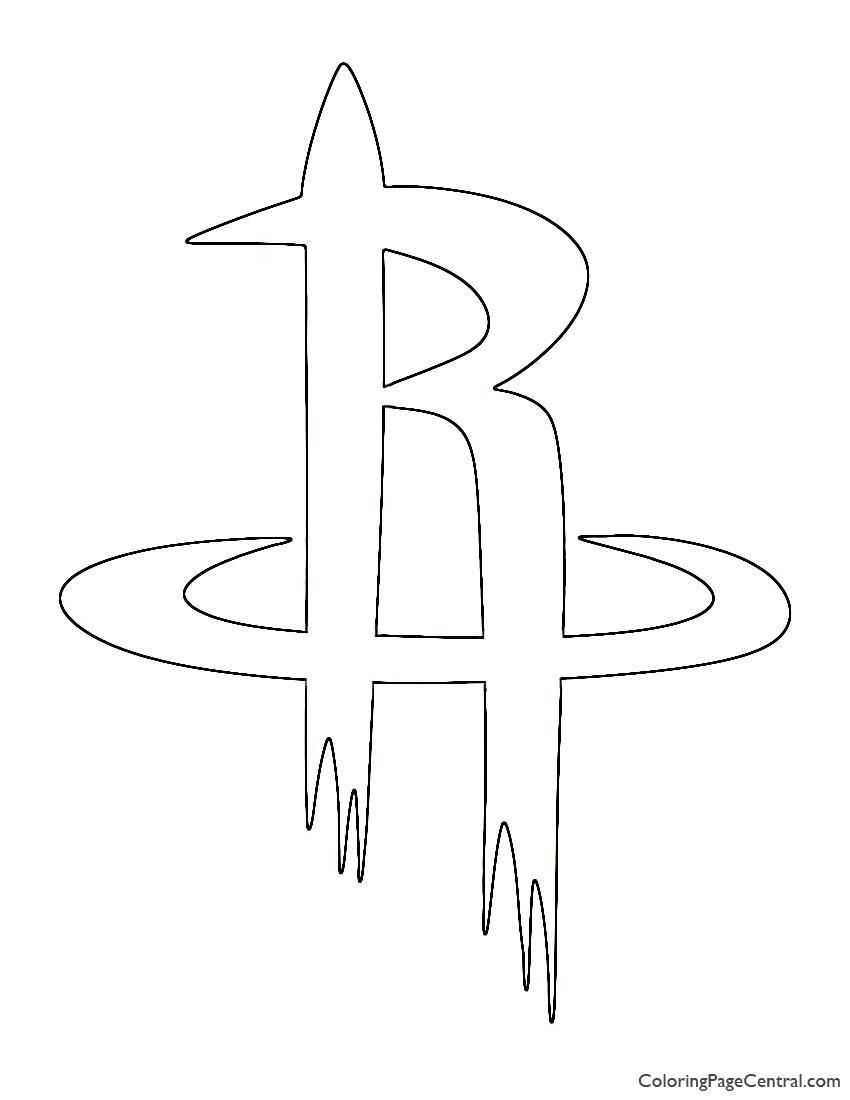 NBA Houston Rockets Logo Coloring Page