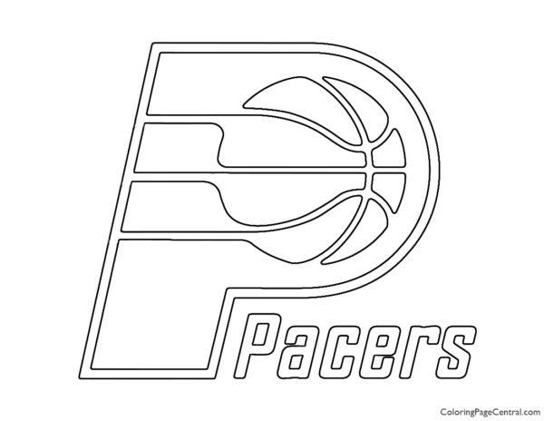 NBA Indiana Pacers Logo Coloring Page