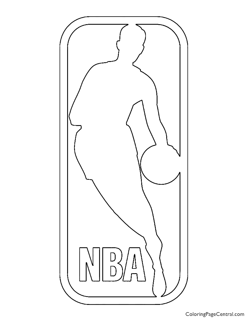 NBA Logo Coloring Page