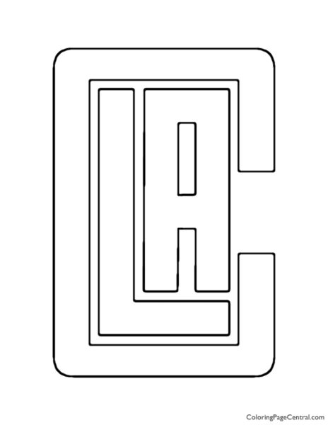 NBA Los Angeles Clippers Logo Coloring Page