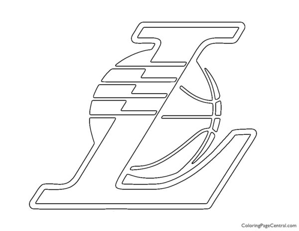 NBA Los Angeles Lakers Logo 02 Coloring Page