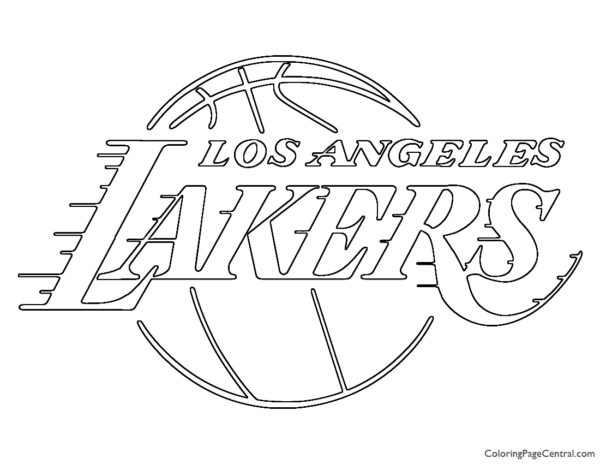 NBA Los Angeles Lakers Logo Coloring Page
