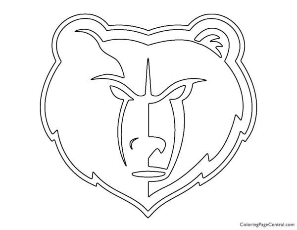 NBA Memphis Grizzlies Logo Coloring Page