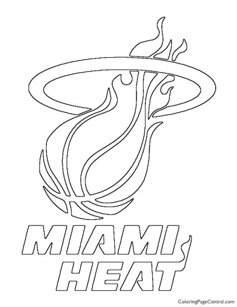 NBA Miami Heat Logo Coloring Page