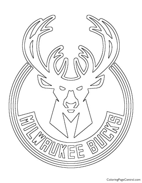 NBA Milwaukee Bucks Logo Coloring Page