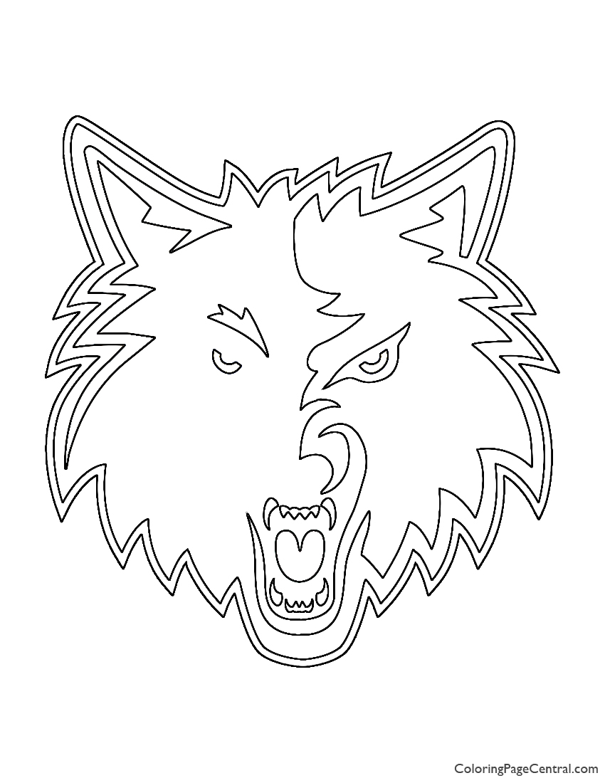 NBA Minnesota Timberwolves Logo Coloring Page